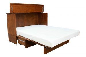 open Stanley cabinet bed