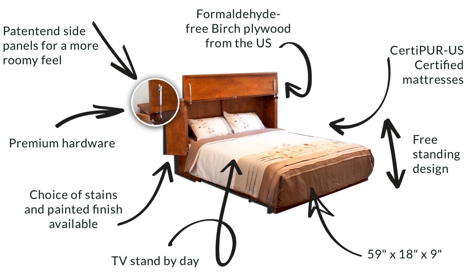 cabinet bed functional