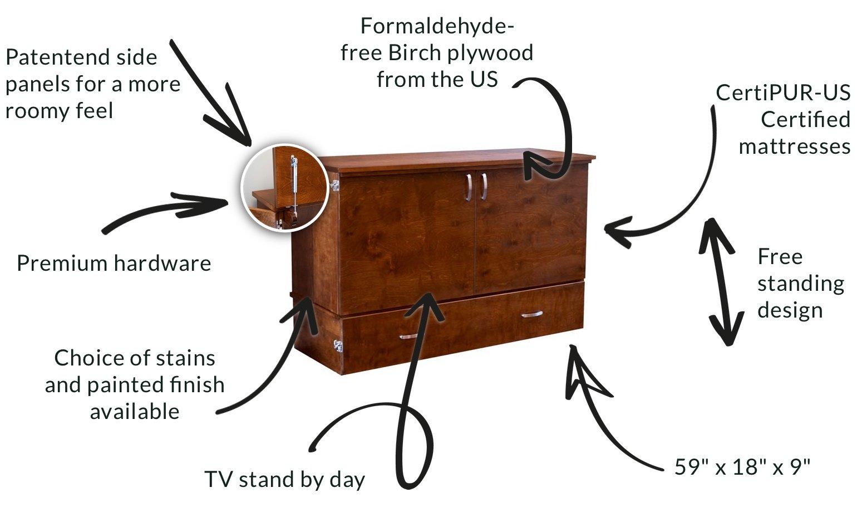 cabinet bed hidden discreet